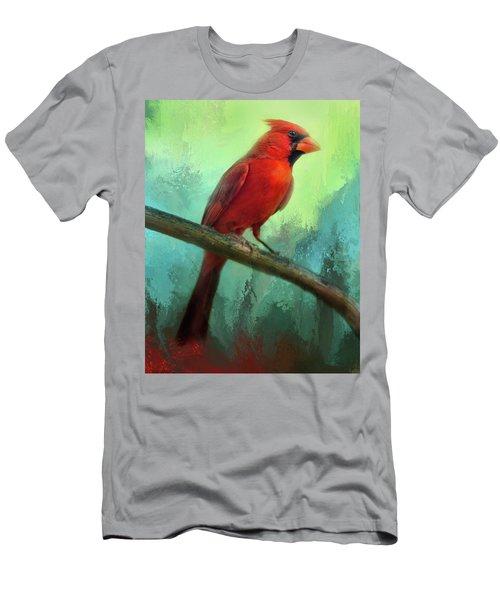 Colorful Cardinal Men's T-Shirt (Athletic Fit)