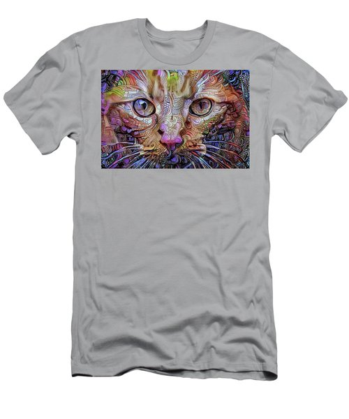 Colorful Cat Art Men's T-Shirt (Athletic Fit)