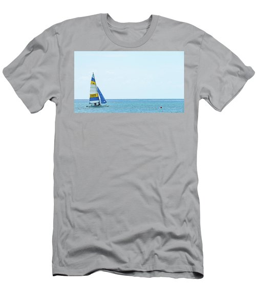 Colorful Catamaran 3 Delray Beach Florida Men's T-Shirt (Athletic Fit)