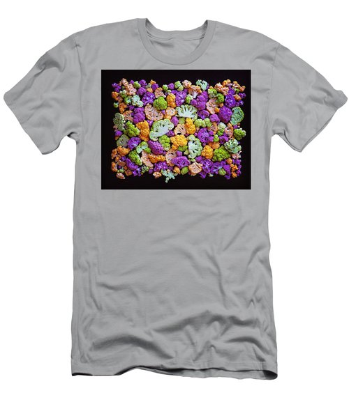 Colorful Cauliflower Mosaic Men's T-Shirt (Athletic Fit)