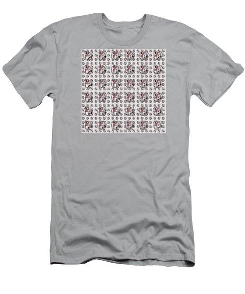 Colorful Giraffe Illustration Pattern Men's T-Shirt (Slim Fit) by Saribelle Rodriguez