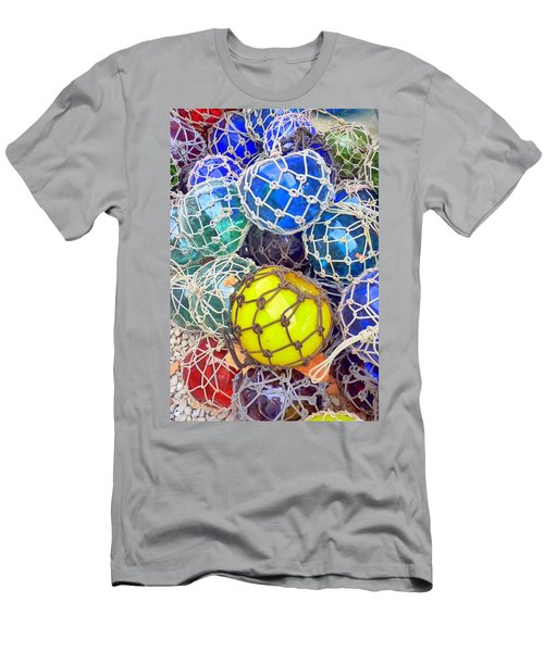 Colorful Glass Balls Men's T-Shirt (Slim Fit) by Carla Parris