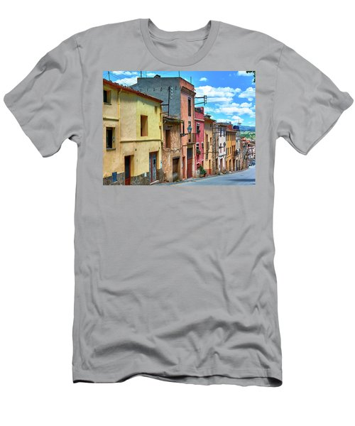 Colorful Old Houses In Tarragona Men's T-Shirt (Athletic Fit)