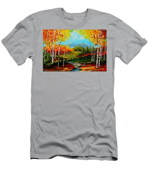 Colorful Spring Men's T-Shirt (Athletic Fit)
