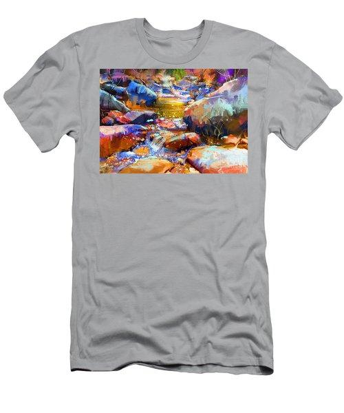 Colorful Stones Men's T-Shirt (Athletic Fit)
