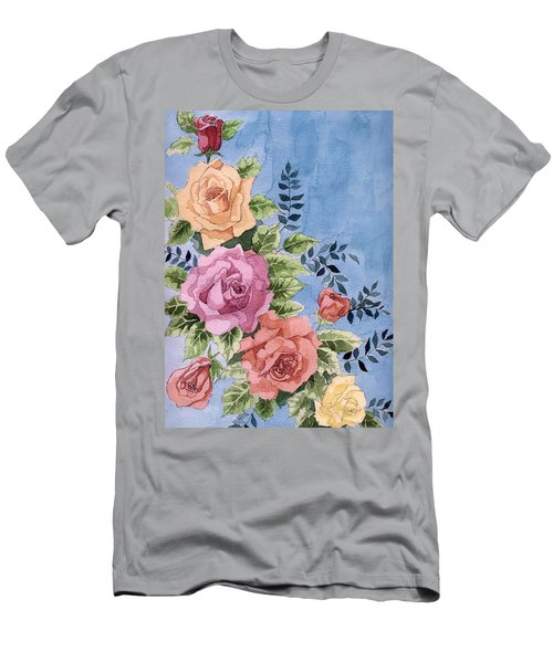 Colorfull Roses Men's T-Shirt (Athletic Fit)