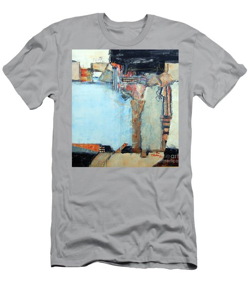 Men's T-Shirt (Slim Fit) featuring the painting Columns by Ron Stephens