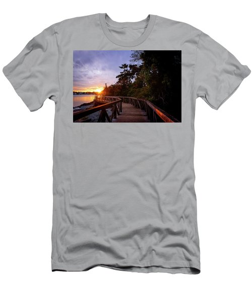 Come Walk With Me Men's T-Shirt (Slim Fit) by Keith Boone
