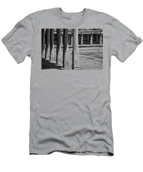 Men's T-Shirt (Slim Fit) featuring the photograph Composition Of Pillars, Hampi, 2017 by Hitendra SINKAR