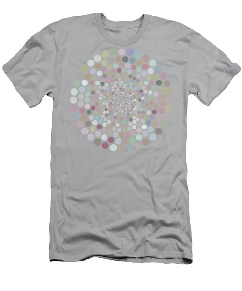 Vortex Circle - Gray Men's T-Shirt (Slim Fit) by Hailey E Herrera