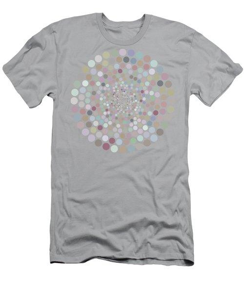 Vortex Circle - Gray Men's T-Shirt (Athletic Fit)