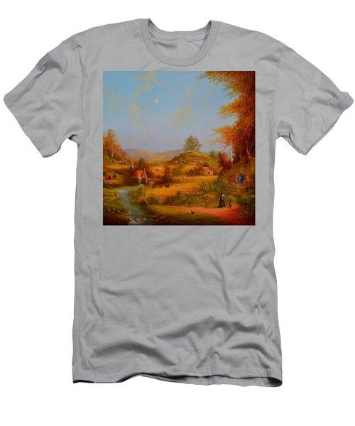 Concerning Hobbits Men's T-Shirt (Slim Fit) by Joe Gilronan