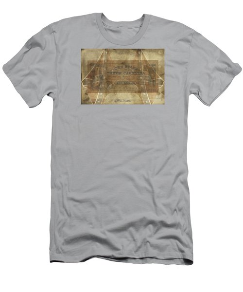 Men's T-Shirt (Slim Fit) featuring the digital art Confederate $1 North Carolina Note by Melissa Messick