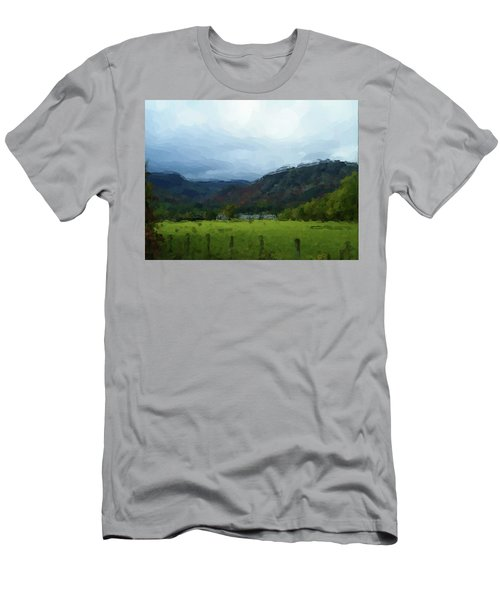 Coniston Watercolour Sketch Men's T-Shirt (Athletic Fit)
