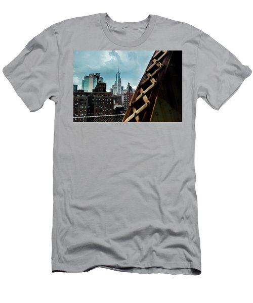 Men's T-Shirt (Athletic Fit) featuring the photograph Connector by Johnny Lam