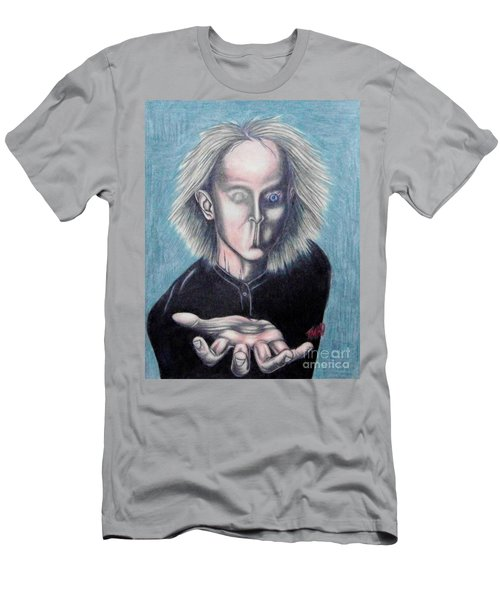 Men's T-Shirt (Slim Fit) featuring the drawing Consciousness by Michael  TMAD Finney