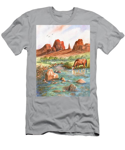 Men's T-Shirt (Slim Fit) featuring the painting Cool, Cool Water by Marilyn Smith