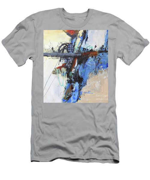 Men's T-Shirt (Slim Fit) featuring the painting Coolly Collected by Ron Stephens