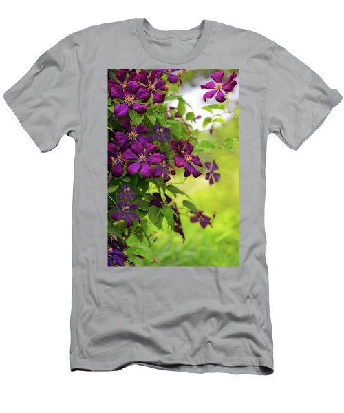 Copious Clematis Men's T-Shirt (Athletic Fit)