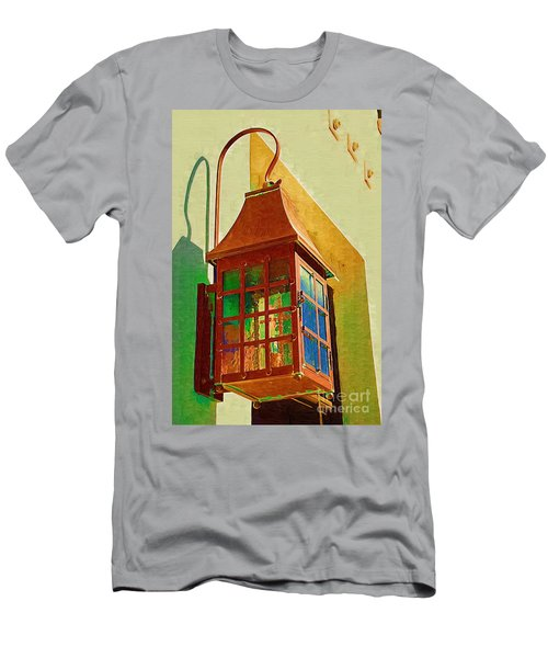 Men's T-Shirt (Athletic Fit) featuring the photograph Copper Lantern by Donna Bentley