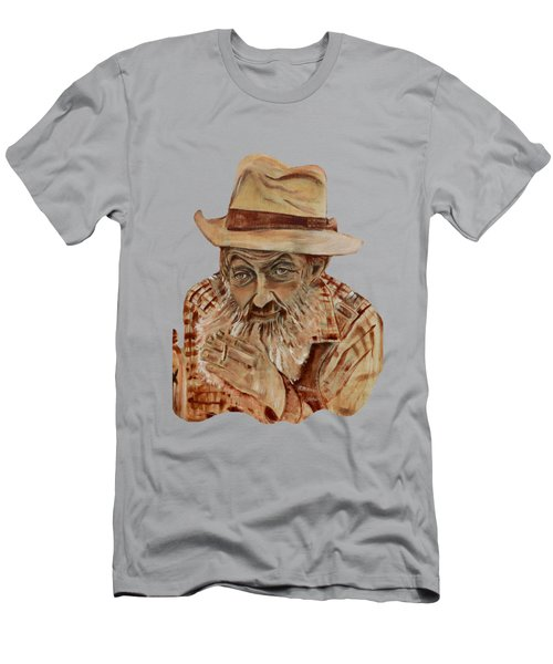 Coppershine Popcorn Bust - T-shirt Transparency Men's T-Shirt (Athletic Fit)