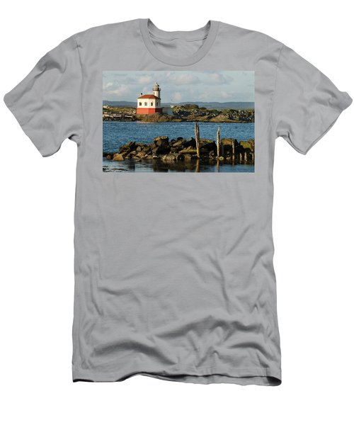 Coquille River Lighthouse Bandon Oregon Men's T-Shirt (Athletic Fit)