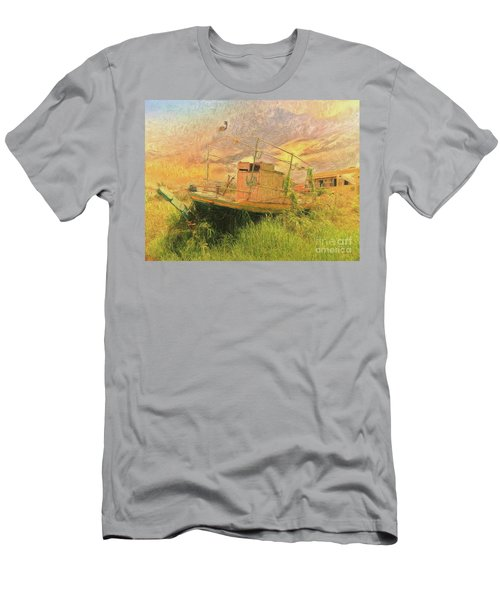 Men's T-Shirt (Athletic Fit) featuring the photograph Corfu 25 High And Dry by Leigh Kemp