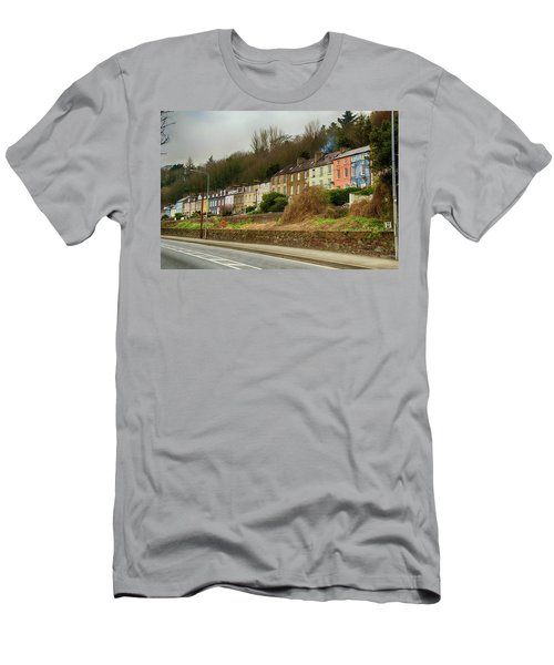 Men's T-Shirt (Slim Fit) featuring the photograph Cork Row Houses by Marie Leslie