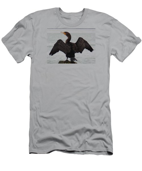 Cormorant In Bellingham Men's T-Shirt (Slim Fit) by Karen Molenaar Terrell