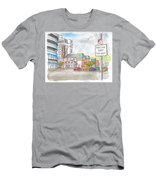 Corner La Cienega Blvd. And Beverly Blvd., Sofitel Hotel, West Hollywood, Ca Men's T-Shirt (Athletic Fit)