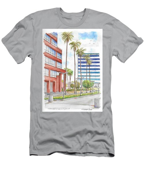 Corner Wilshire Blvd. And Curson, Miracle Mile, Los Angeles, Ca Men's T-Shirt (Slim Fit) by Carlos G Groppa