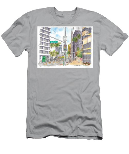 Corner Wilshire Blvd. And Gale Dr., Beverly Hills, Ca Men's T-Shirt (Athletic Fit)