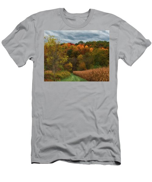Cornfield In Fall  Men's T-Shirt (Athletic Fit)