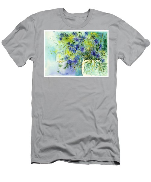 Cornflowers Symphony Men's T-Shirt (Athletic Fit)