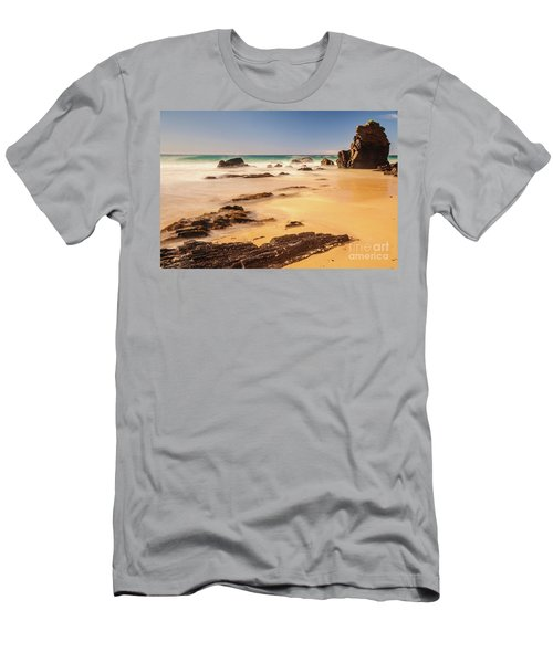 Corunna Point Beach Men's T-Shirt (Slim Fit) by Werner Padarin