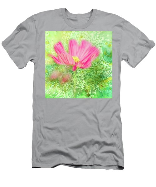 Cosmos On Green Men's T-Shirt (Athletic Fit)