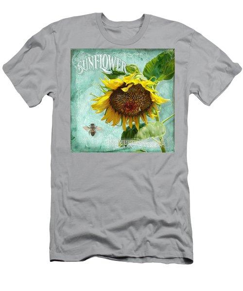 Cottage Garden - Sunflower Standing Tall Men's T-Shirt (Athletic Fit)