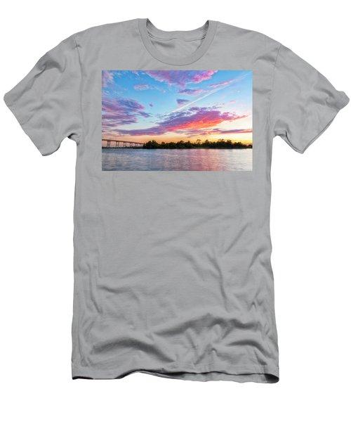 Cotton Candy Sunset Men's T-Shirt (Athletic Fit)