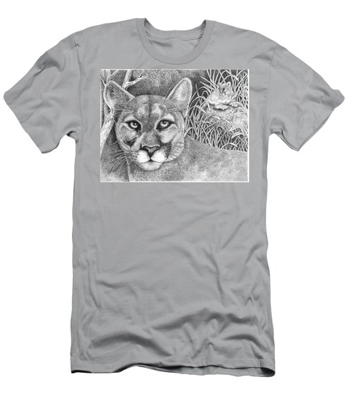 Cougar Men's T-Shirt (Slim Fit) by Lawrence Tripoli