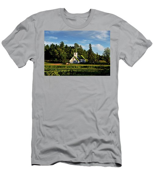 Country Church 003 Men's T-Shirt (Slim Fit) by George Bostian