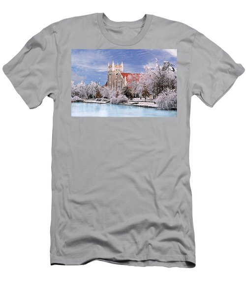 Men's T-Shirt (Slim Fit) featuring the photograph Country Club Christian Church by Steve Karol