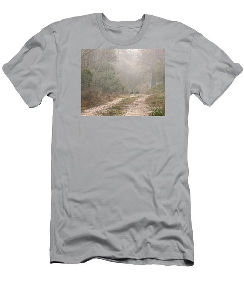 Country Road In The Morning Men's T-Shirt (Athletic Fit)