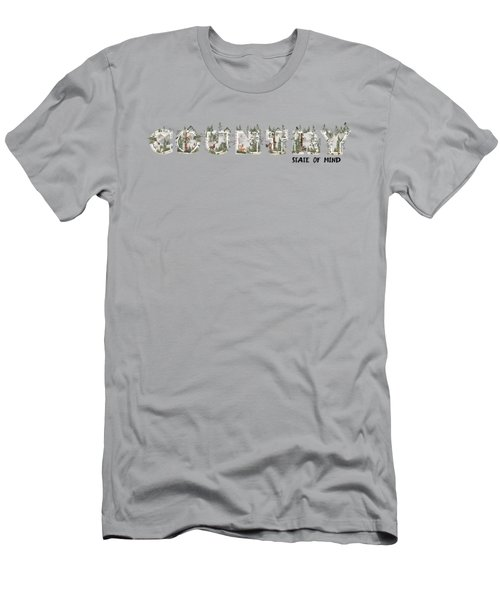 Country State Of Mind Men's T-Shirt (Athletic Fit)