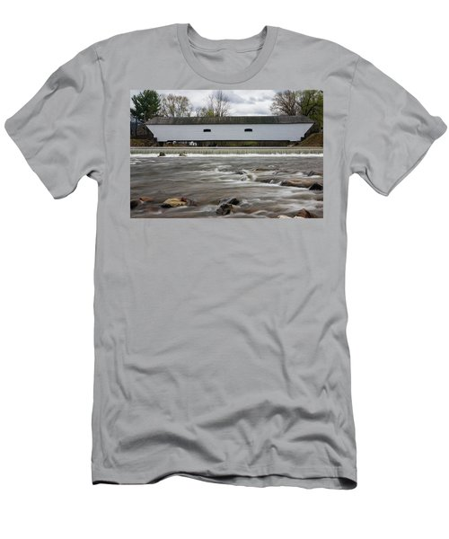 Covered Bridge In March Men's T-Shirt (Athletic Fit)
