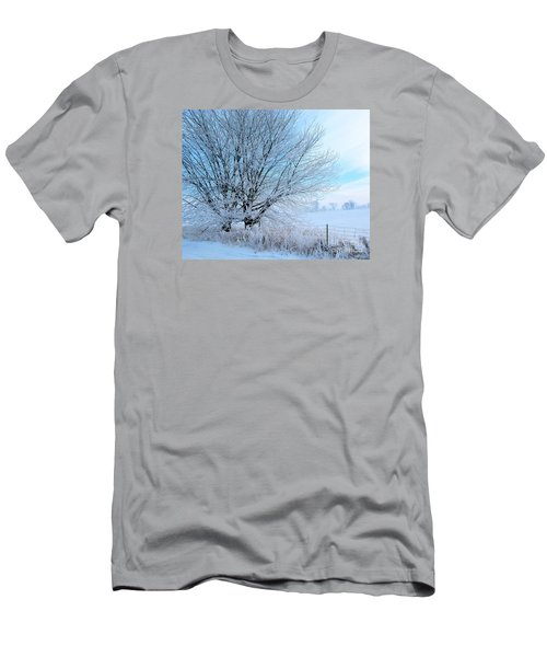 Covered In Ice Men's T-Shirt (Slim Fit) by Heather King