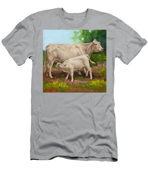 Cow  And Calf In Miniature  Men's T-Shirt (Athletic Fit)