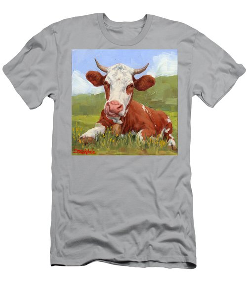 Cow Lick Mini Painting  Men's T-Shirt (Athletic Fit)