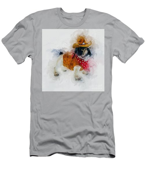 Cowboy Bulldog Men's T-Shirt (Athletic Fit)