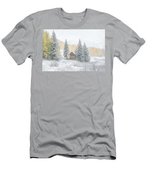 Men's T-Shirt (Slim Fit) featuring the photograph Cozy Cabin by Kristal Kraft