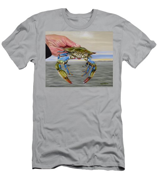 Crab Fingers Men's T-Shirt (Slim Fit) by Phyllis Beiser